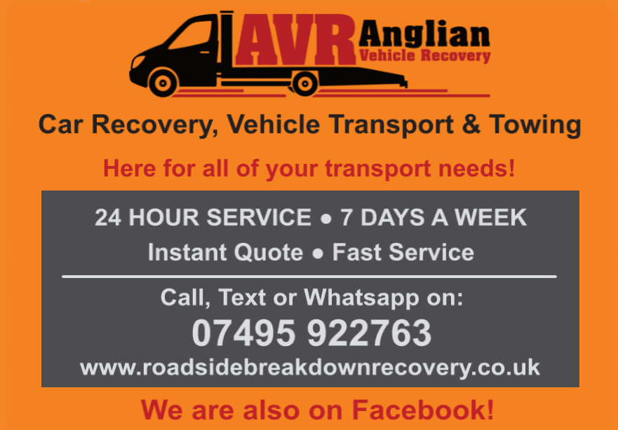 CAR TRANSPORT VEHICLE TOWING RECOVERY EAST ANGLIA